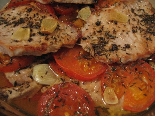 Tomaattiset uuni fileepihvit
