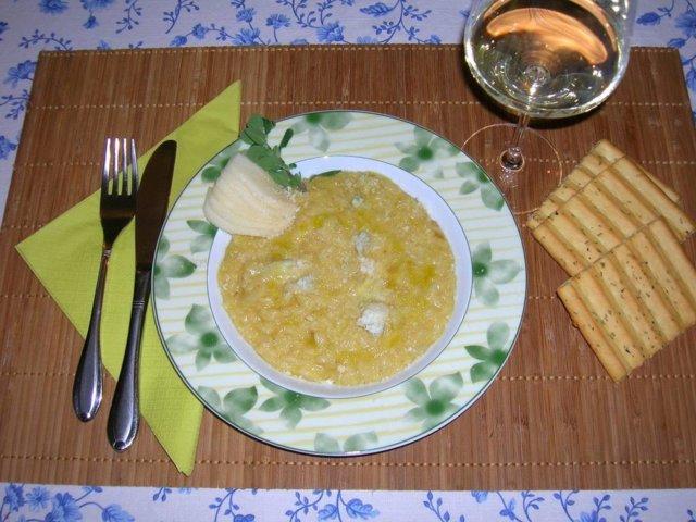 Gorgonzola-paaryna risotto 1