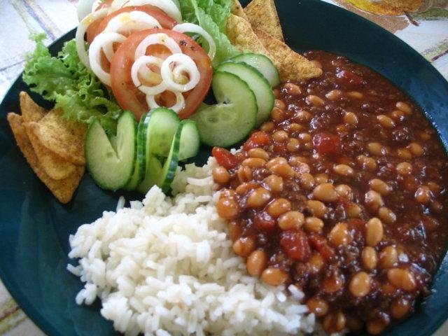Chili sin carne (helppo)