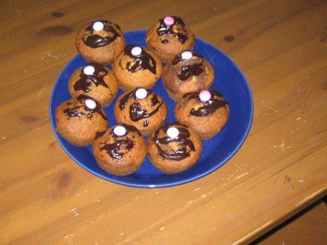 Banaani-suklaa muffinssit 1