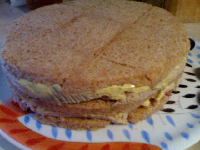 Vihreä voileipäkakku 4