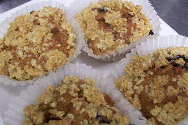 Omena-mustikkamuffinssit
