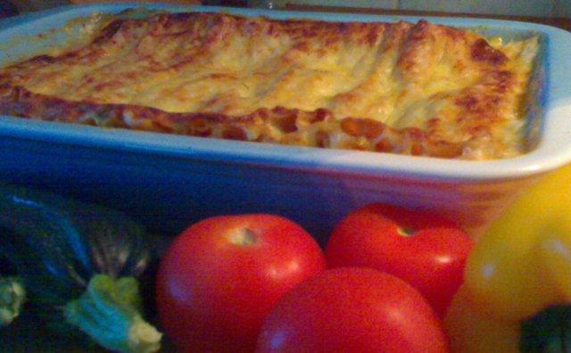 Reseptikuva: Lihaton lasagne 1