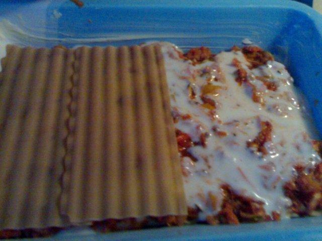 Lihaton lasagne