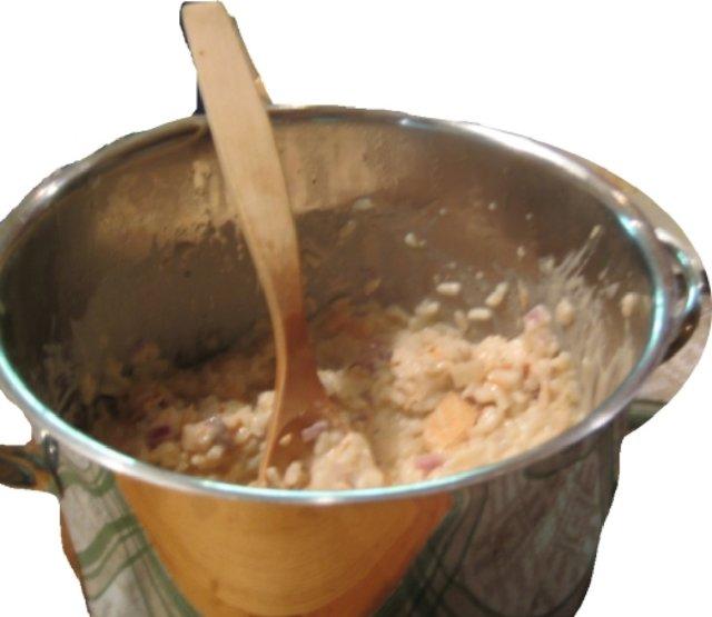 Lohirisotto (risotto con salmoni)