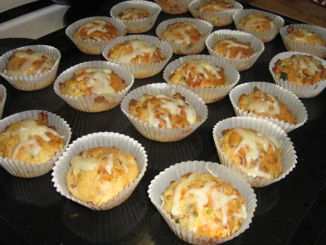 Kinkku-juustomuffinit 1