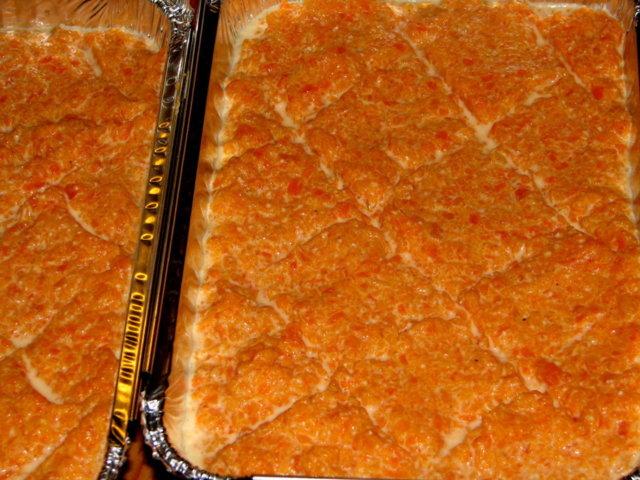 Porkkanalaatikko, mannasuurimoilla, sokeriton