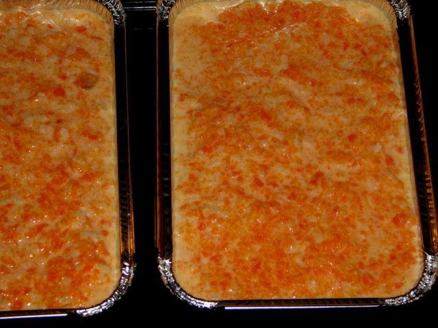 Porkkanalaatikko, riisillä