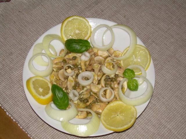 Sitruuna-valkosipuli herkkusienet 1
