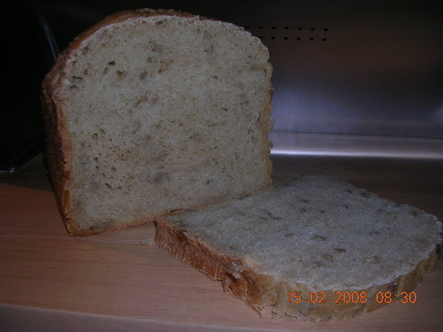 Reseptikuva: Auringonkukansiemenleipä leipäkoneella 1