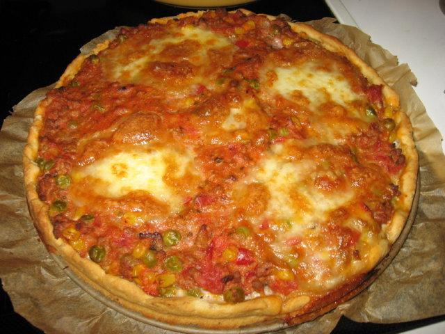 Tomaattinen jauhelihapiiras 1