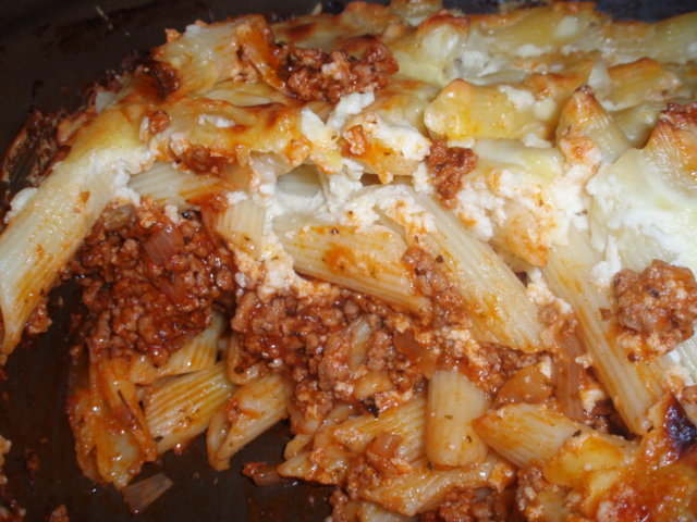 Penne vuoka lasagnen tapaan 6
