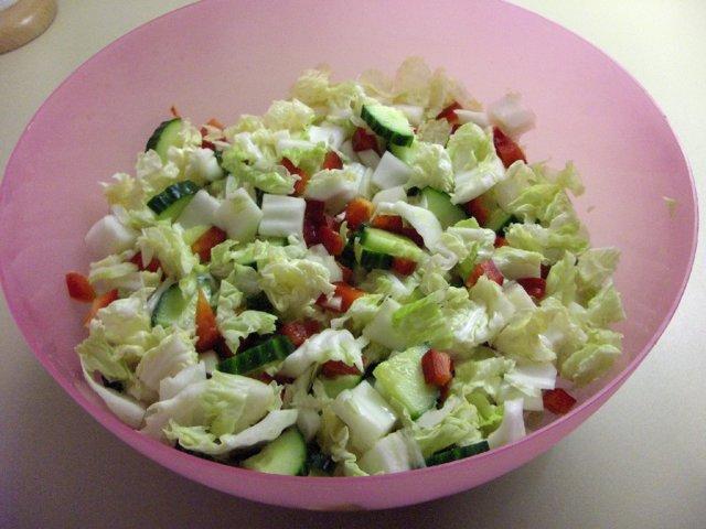 Simppeli vihersalaatti