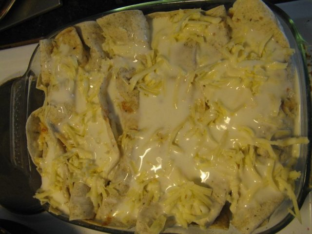 Reseptikuva: Kuorrutetut tortillarullat eli enchiladat 3