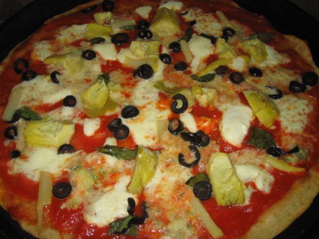 Pizza Carciofo (artisokka) 1