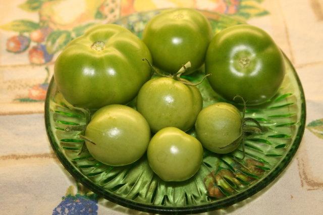 Paistetut Vihreät Tomaatit