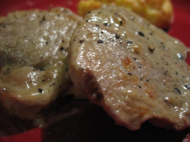 Porsaanfilee kermaisessa pippurihauteessa