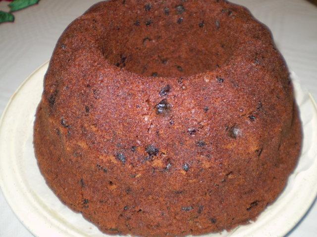 Jouluinen rusina-suklaakakku (4.12.08)