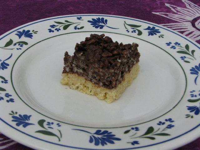 Riisisuklaa neliöt 1