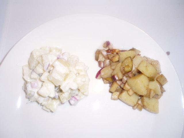 Perunasalaatti kahdella tavalla 1