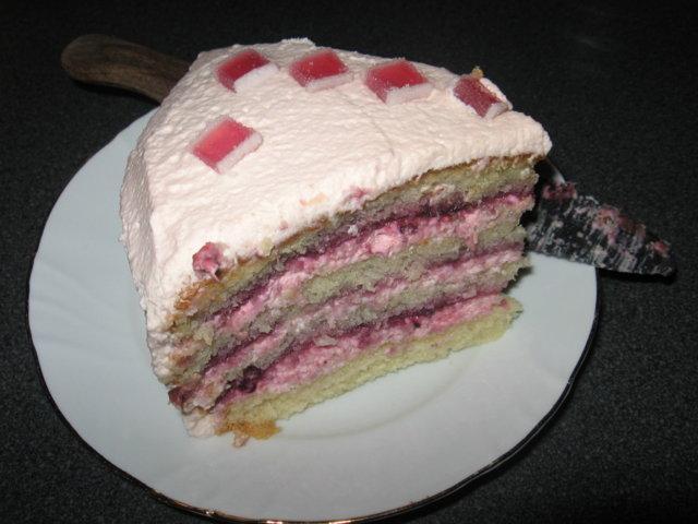 Vaaleanpunainen kakku 1