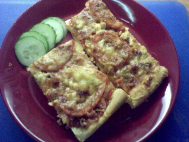 Pellillinen pizzaa (pizza pohja)