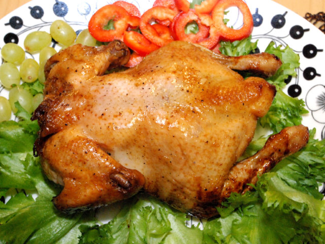 Hunajaglaseerattu kana 1