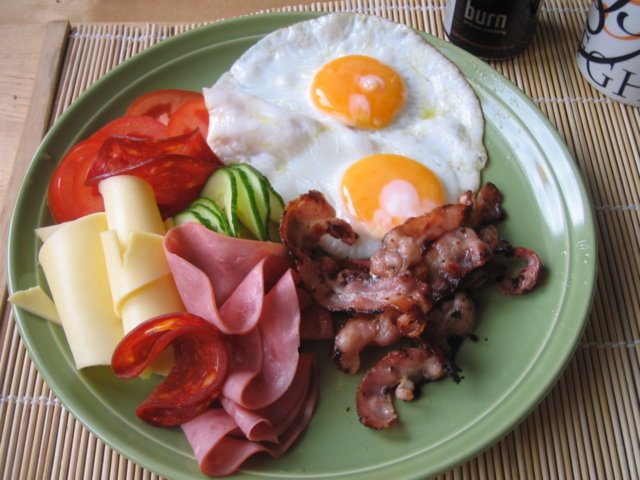 Reseptikuva: Lihansyöjän aamiainen 1