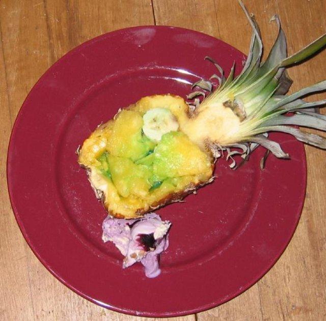 Curacao-ananas paistinpannulla 1