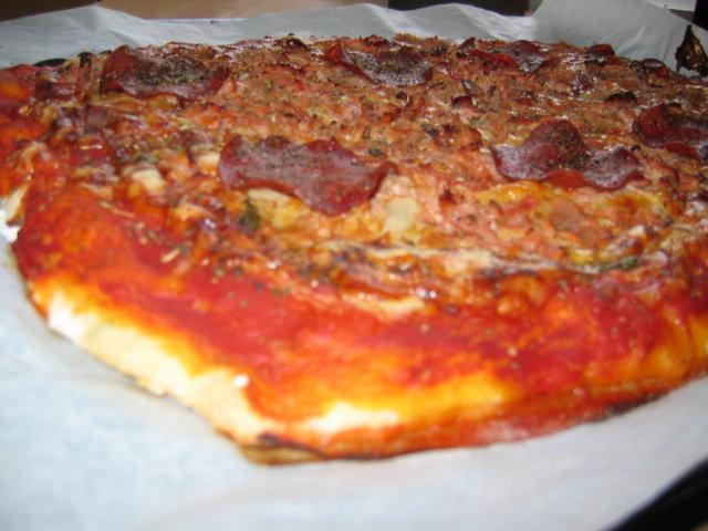 Pizza ilman hiivaa