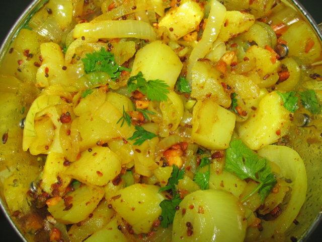 Reseptikuva: Tulinen perunasipulimasala 1