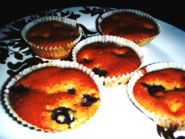 Mummon mustikka muffinsit