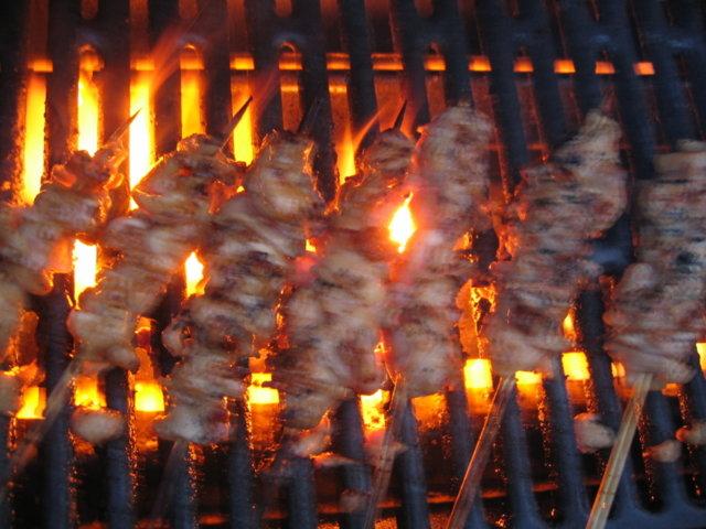 Yakitorivartaat grillissä 2