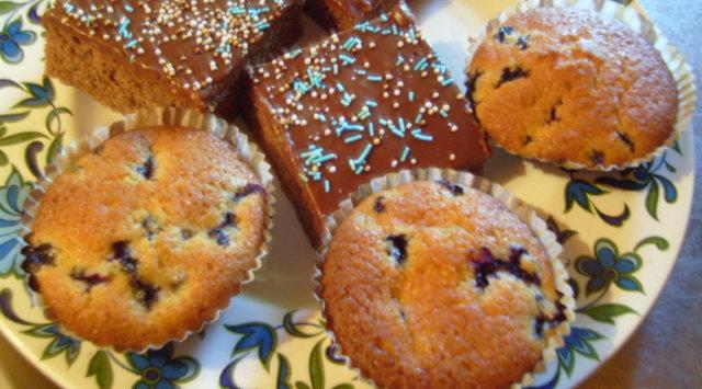 Reseptikuva: Mustikkamuffinssit 2