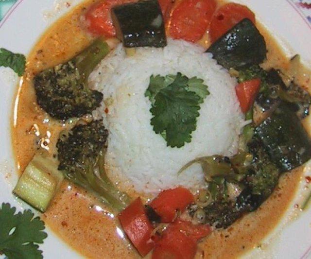 Reseptikuva: Punainen thaicurry 2