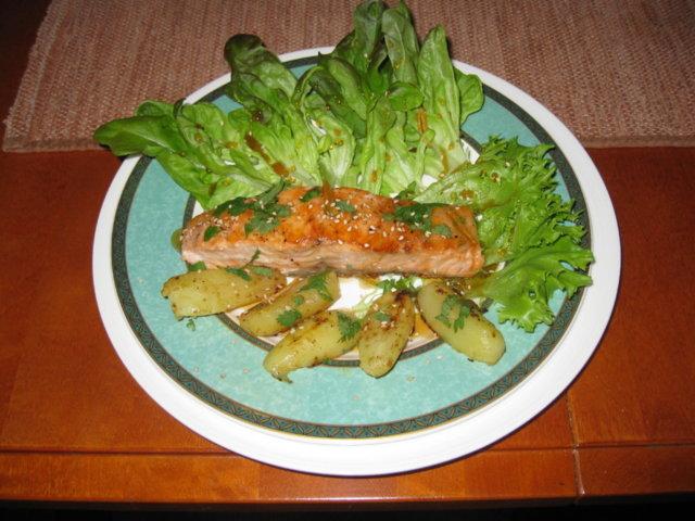 Reseptikuva: Salanova-salaatti 2. Tasmanianlohi 1