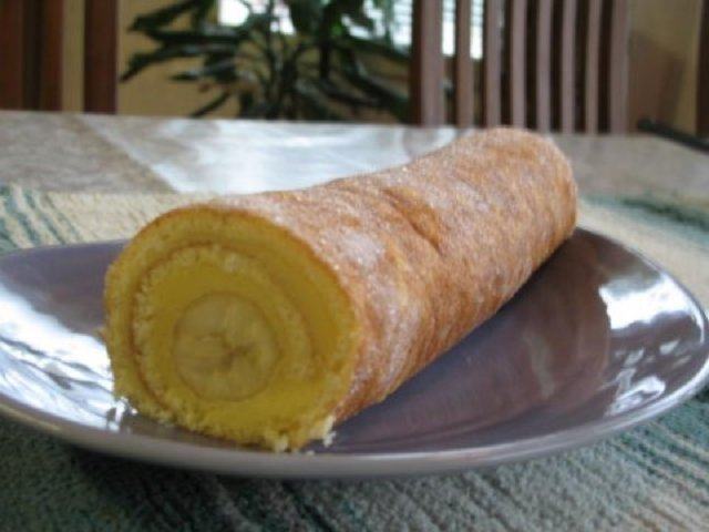 Reseptikuva: Banaani kääretorttu 1