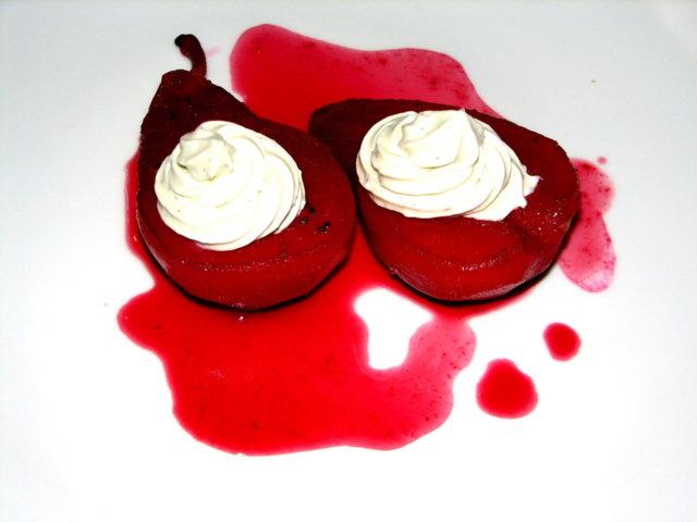 CassisPäärynät ja RoquefortVaahto