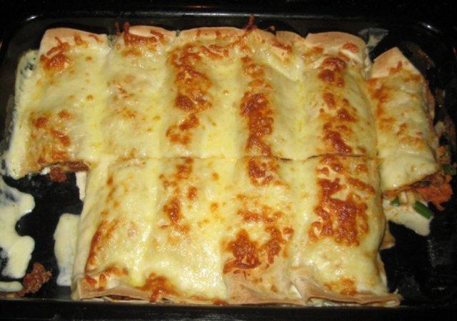 Reseptikuva: Jauheliha-enchilada 1