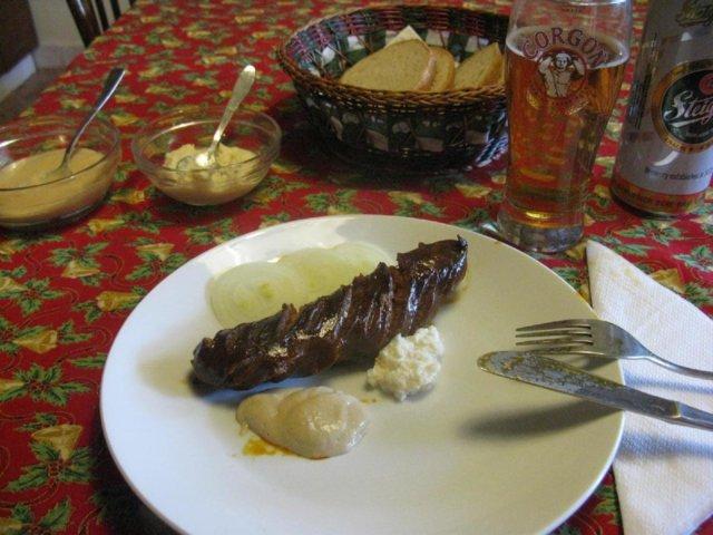 Reseptikuva: Klobása - mausteinen kokolihamakkara 2