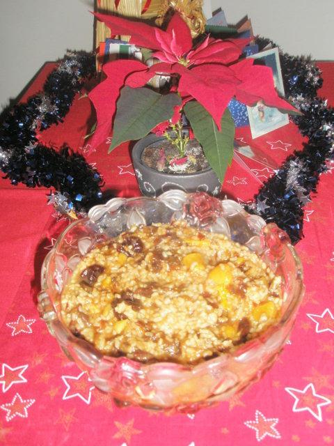 Sekahedelmä-joulupuuro 4