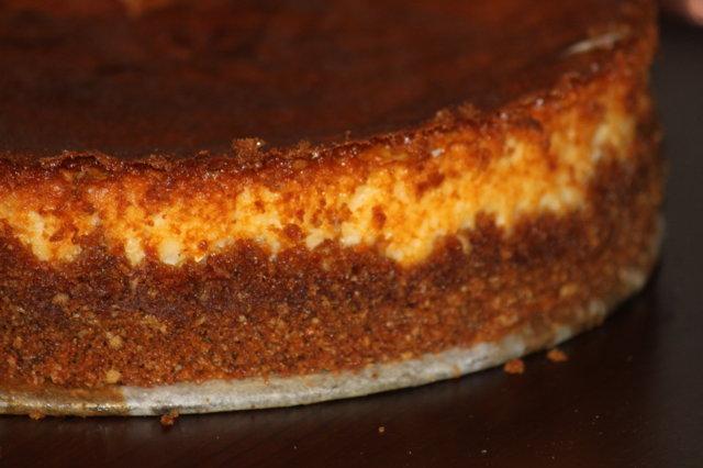 juustokakkupohjan perusohje, uunissa 1