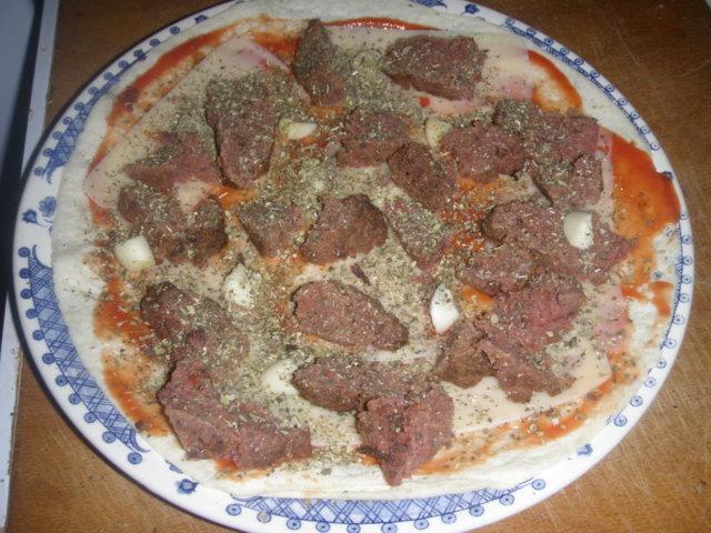 Vähän erilainen pizza. 5