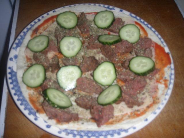 Vähän erilainen pizza. 6