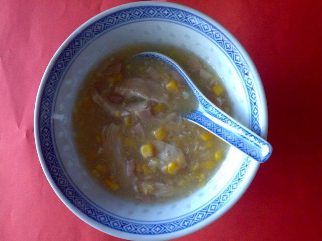 Kiinalainen Maissi-kana-keitto 1