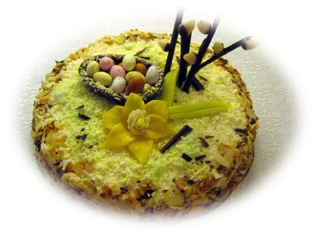 Keväinen kookoskakku 1