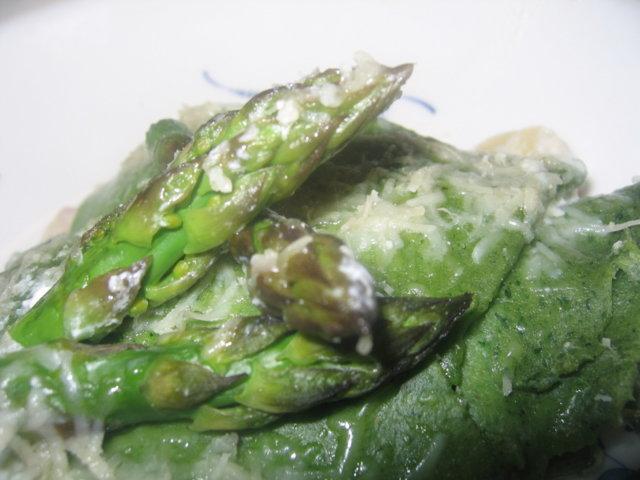 Parsalasagnette - Lasagnette alle punte di asparagi con provola e prosciutto 1