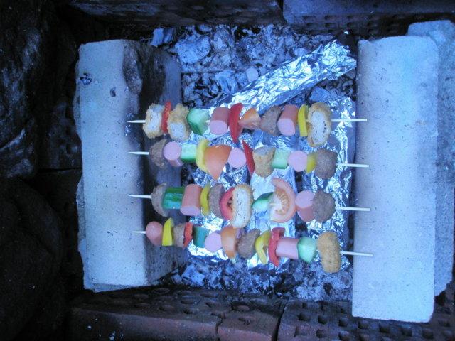 Täytetyt paprikat&vartaita grillissä 5