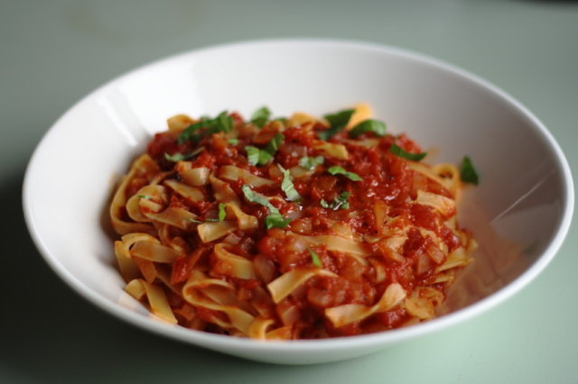 Tomaattipasta 1