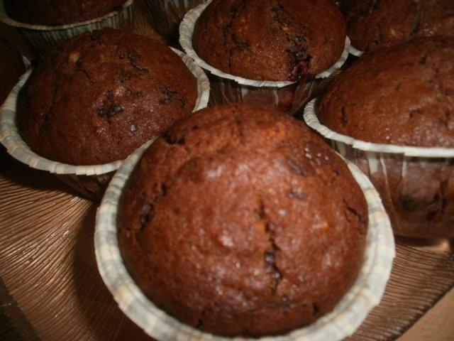 Suklaa-vadelmamuffinit 1
